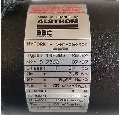 DC-Servomotor ABB/BBC/Alsthom T4F3B3 Hytork, mit Tachogenerator, neuwertig! (Dc-servo-motor)