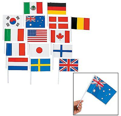 Flags of All Nations, International Flags - 72 flags for Party Decorations,