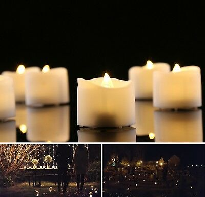 Luminara Flameless Candles for Outdoor Indoor Fake Candle in Warm White Pack 12  - Fake Candle