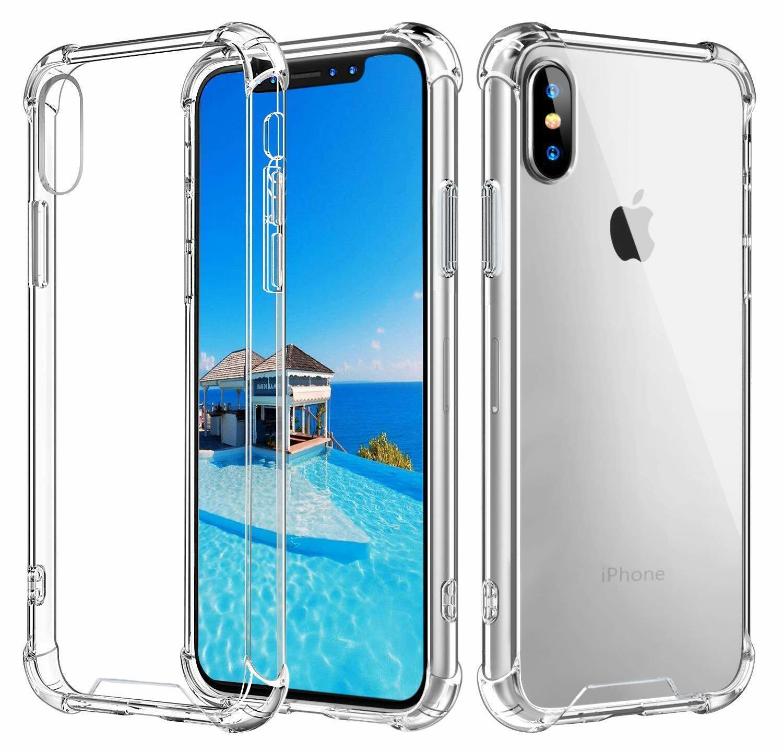 For iPhone 6 7 8 Plus XS MAX XR X SE Case Clear TPU Bumper C