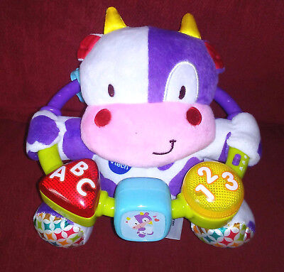 Vtech Lil' Critters Moosical Beads Plush Cow Lights Music ABC 123 Colorful Soft