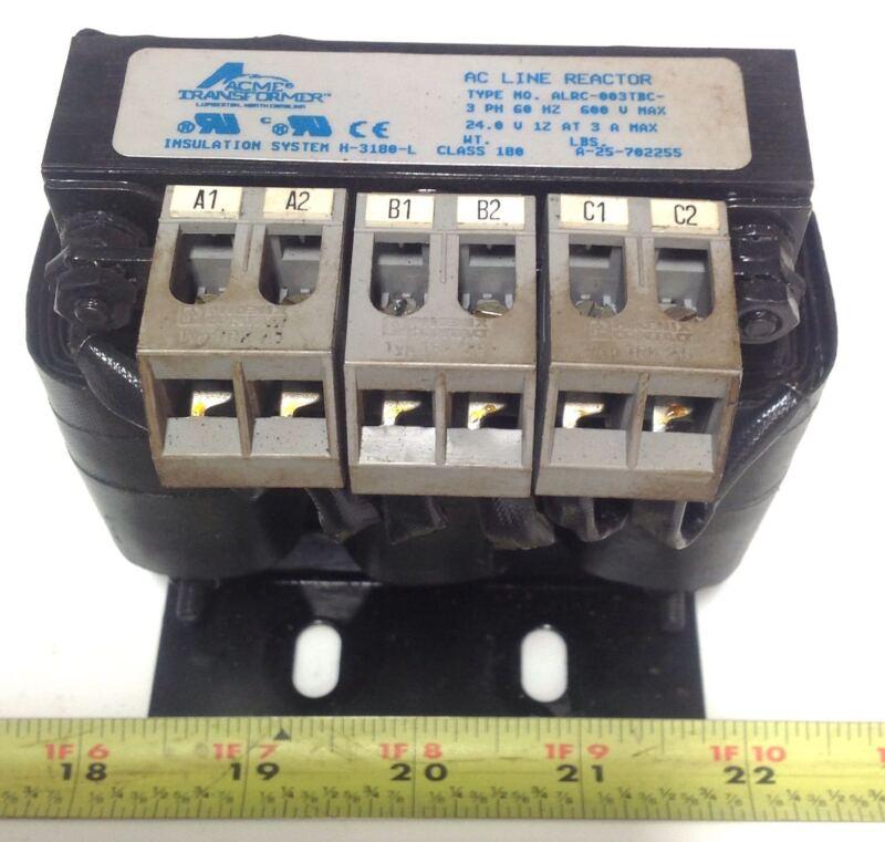 ACME TRANSFORMER  3 PH 60HZ 600V AC LINE REACTOR ALRC-003TBC