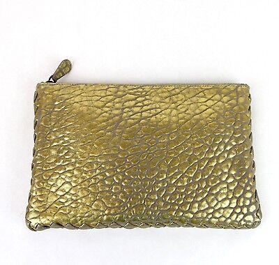 NEW Authentic BOTTEGA VENETA Leather Clutch Pouch Bag wWoven Trim 256400 1516