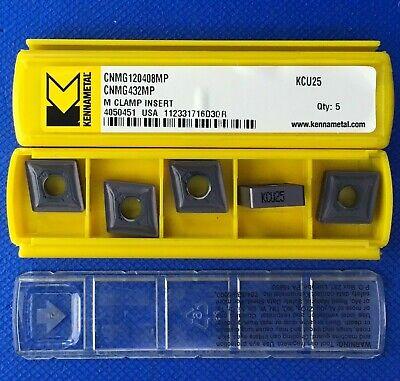 5 Pack Kennametal Cnmg 120408mp Carbide Inserts Cnmg 432mp Kcu25 Machinist