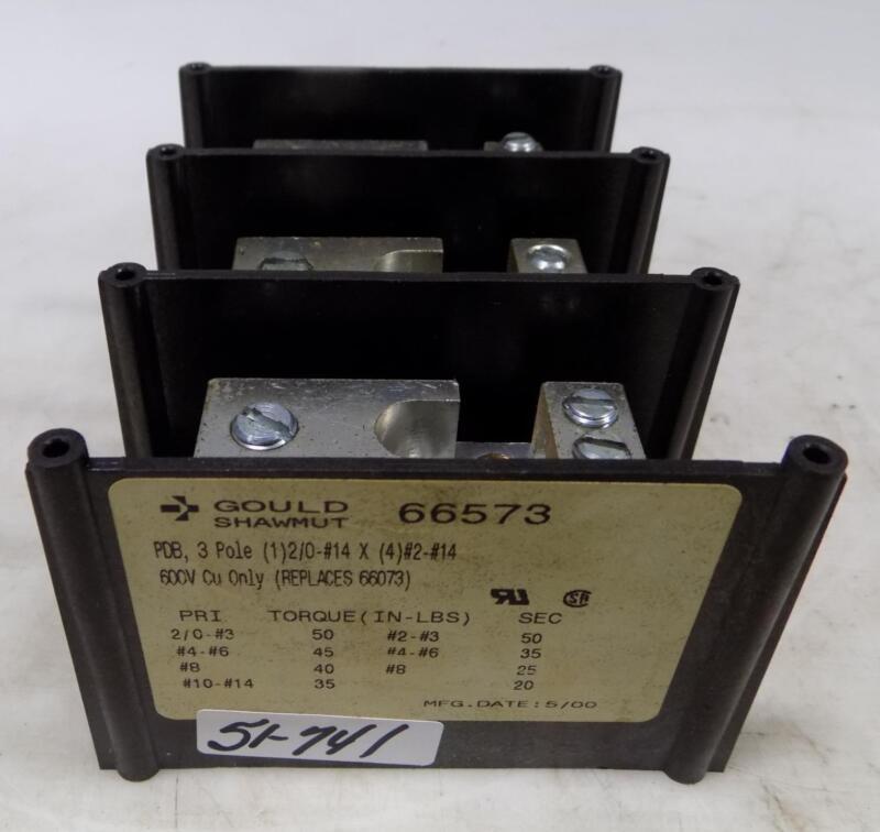GOULD SHAWMUT 175A 600V 3P FUSE BLOCK 66573
