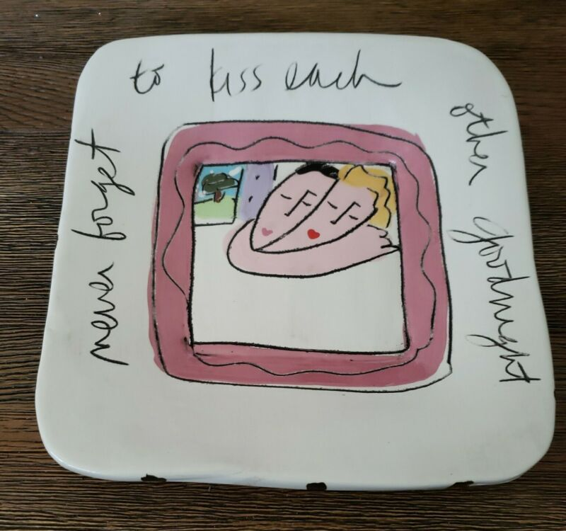 Sandra Magsamen Wedding Plate platter gift with stand sayings quotes