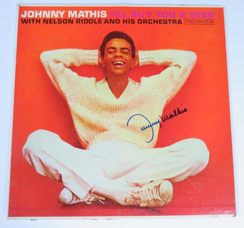 """JOHNNY MATHIS Signed Autograph """"I'll Buy You A Star"""" Album Vinyl Record LP"""