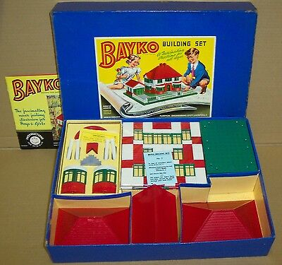 ORIGINAL VINTAGE 1953 BAYKO BUILDING SET 2 BOXED. EXCELLENT CONDITION.