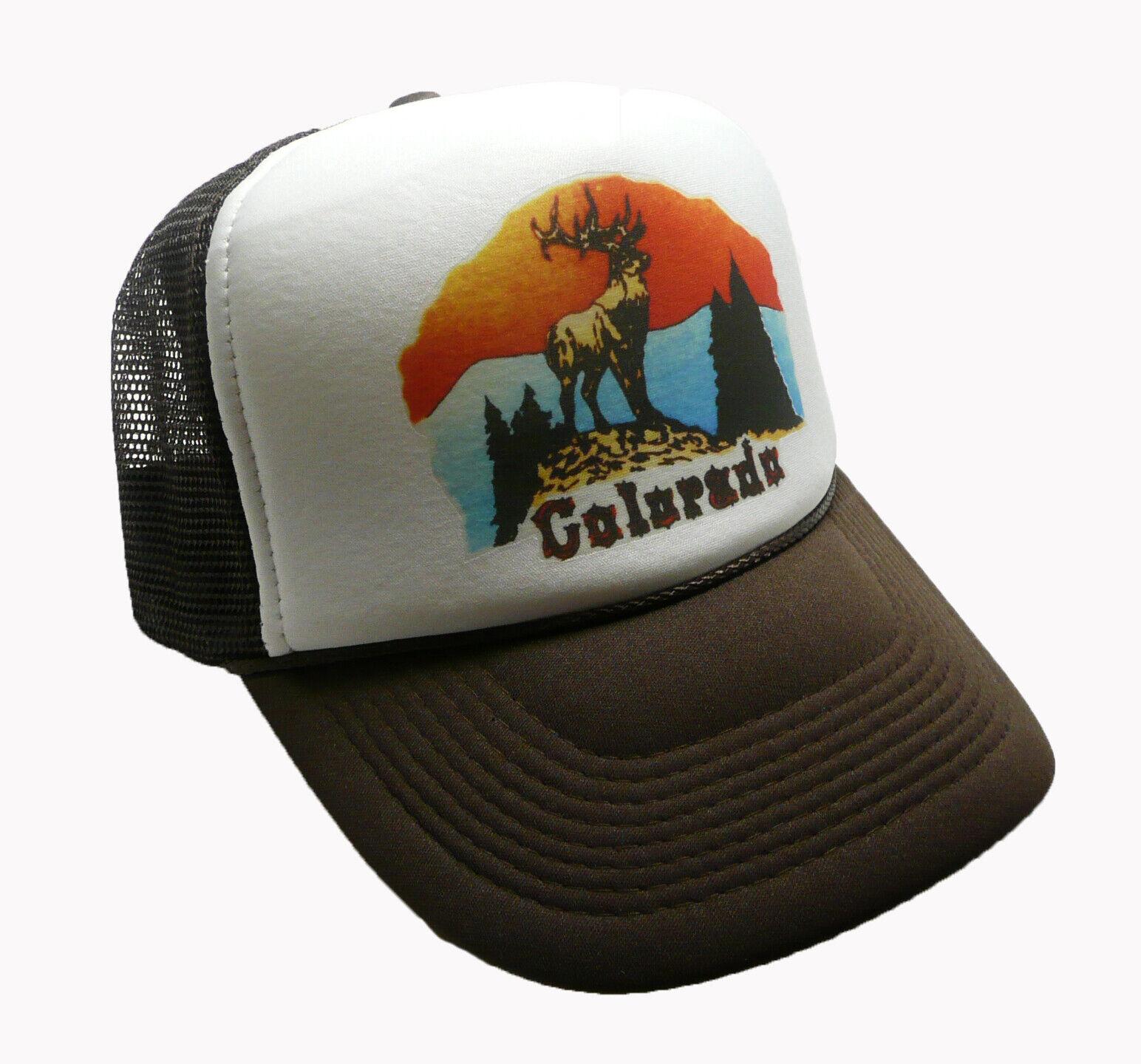 Vintage Colorado hat Trucker Hat Snap back Cap Brown Vacatio
