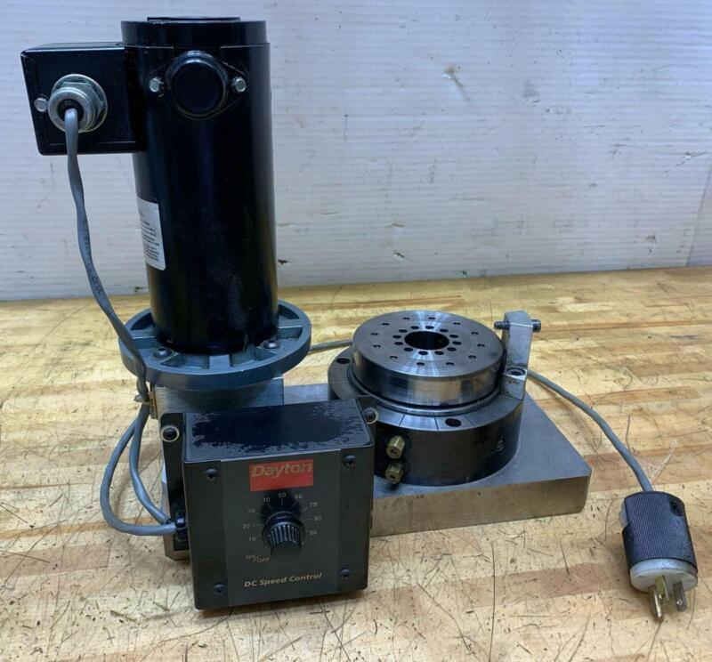 BLOCK-HEAD Universal Air Bearing Spindle Model: 4R, Dayton Variable Speed 1/6 HP