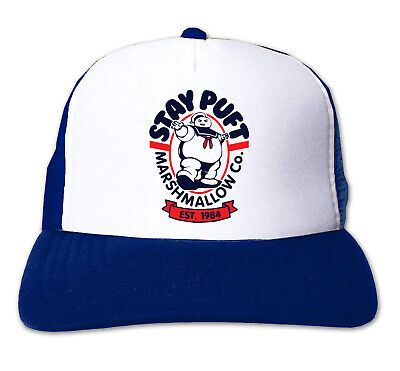 Stay Puft Hat (Stay Puft Trucker Snapback Hat - Vintage Retro Cap Ghostbusters Film Movie)