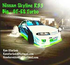 1996 Nissan Skyline R33, Turbo, Auto, bov, full GT bodykids. Ascot Vale Moonee Valley Preview