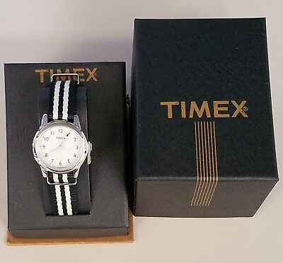 NIB J.Crew  Women's TIMEX Watch, Vintage Collection with striped band