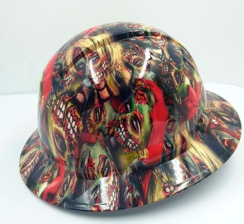 FULL BRIM Hard Hat custom hydro dipped , NEW COLOR ZOMBIE GIRLS SUPER HOT NEW 1