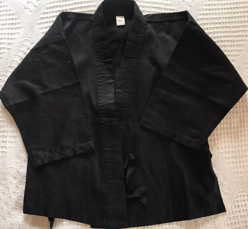 Pro Force Kimona Black Top With Inside Ties Size 000