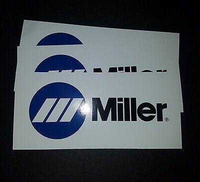 3 Miller welder stickers Mig Tig Arc Helmet Welding