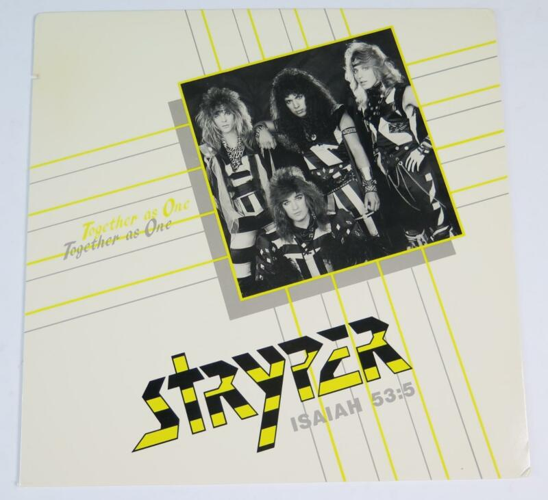 """STRYPER Signed Autograph """"Together As One"""" Album Vinyl Record LP by All 4"""