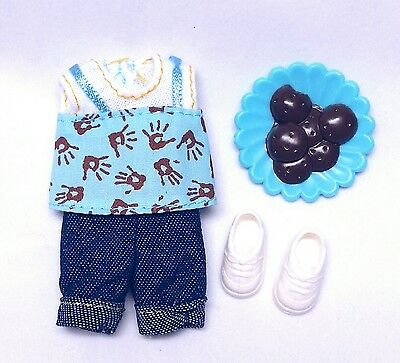Barbie  Kelly Doll Clothes Sunny Day Blue Top Denim Jeans Shoes Accessories New