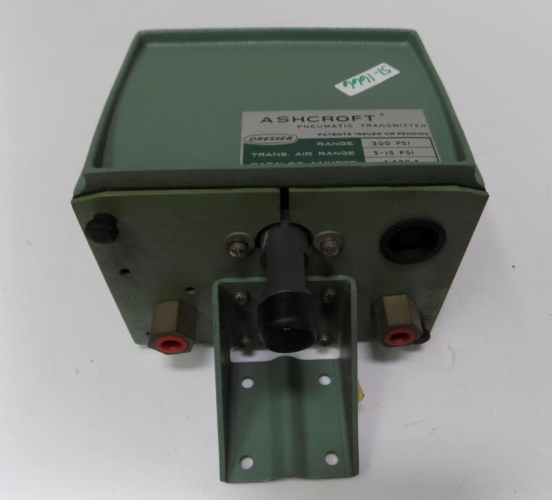 ASHCROFT DRESSER 300PSI 3-15PSI PNEUMATIC TRANSMITTER 4480A