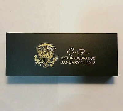 Barack Obama 57th Inauguration Laser Engraved Presidential Commerative Pen Set
