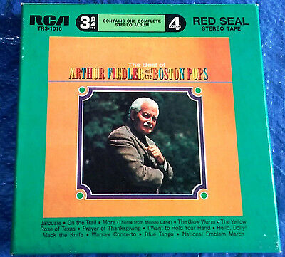 "1965 THE BEST OF ARTHUR FIEDLER & THE BOSTON POPS 3 3/4 IPS 4 TRACK 7"" REEL2REEL"