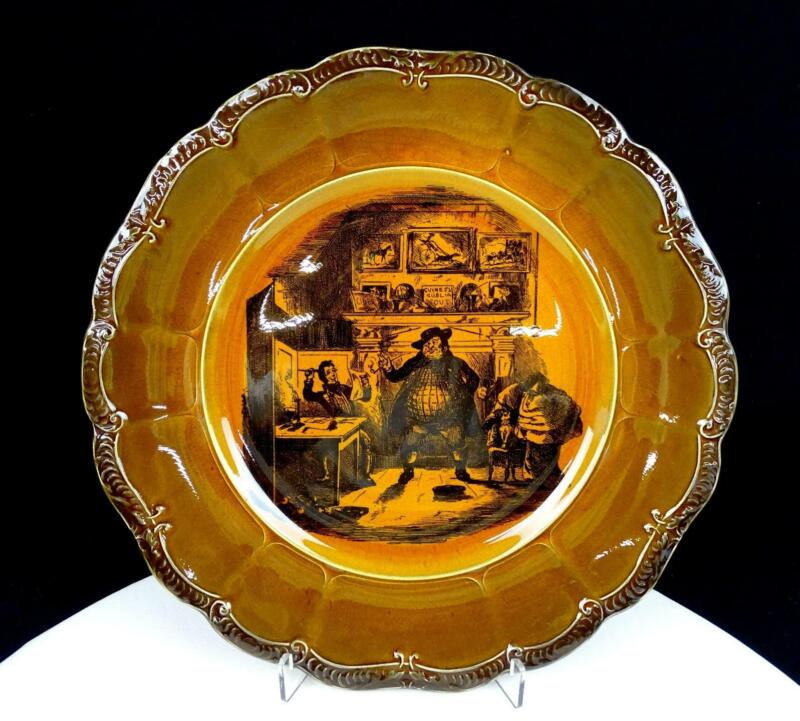 """RIDGWAYS ENGLAND THE TWO WELLERS PICKWICK BROWN 10 1/8"""" COLLECTOR PLATE 1891-"""