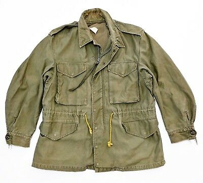 M-1951 Field Coat Vintage 60s Military Sateen OG-107 War Army Jacket USA