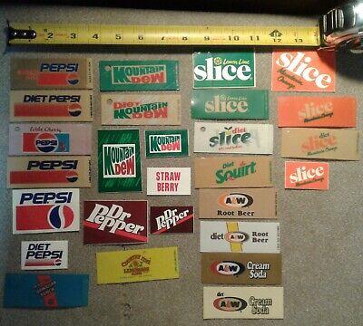 Hawaiian Punch Aw Squirt Pepsi Coke Soda Vending Machine 27 Labels