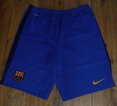 Nike FC Barcelona 2015 Junior Away Shorts Size UK XL 13 - 15 Years 158 - 170cm