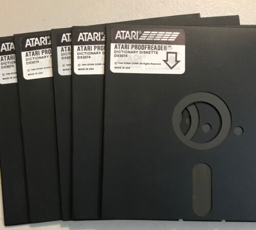 Atari Excess 5 1/4 disks 800/XL/XE 10 Disk No Sleeves with Notch