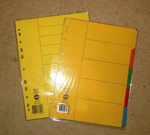 Manillla Bright Dividers  (  2 x 5 Tab A4 ) + ( 2 * 10 Tab A4 ) Eastwood Ryde Area Preview