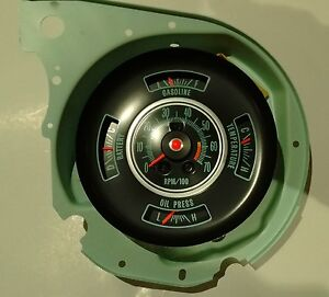 1969 chevelle gauge factory tachometer dash gauge 69 chevy chevelle el camino 6000 rpm tach gauges