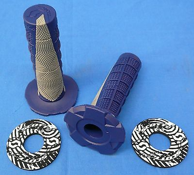 Honda Cr500r Cr 500r Blue/grey Twist Grips & Donuts Engine Cylinder Piston
