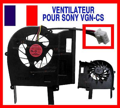 Ventilateur Fan Pour Pc Portable Sony Vaio Vgn-cs107d Vgn-cs107d/p Vgn-cs107d/w