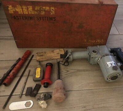 Vintage Hilti Torna 765 Heavy Duty Hammer Drill In Case Accessories