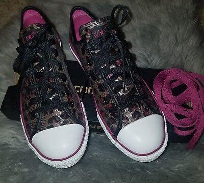 Converse All Star CT ox leopard nwob US 5 kids