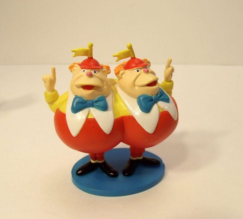 Tweedle Dee Dum Alice In Wonderland Disney 3.5 Inch Tall PVC Figure Cake Topper