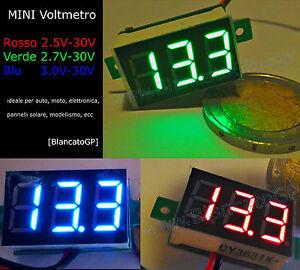 MINI-VOLTMETRO-DIGITALE-LED-tester-moto-auto-camper-pannelli-solari-custom-pista