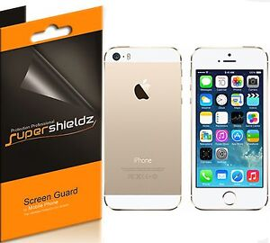 6Pcs Supershieldz HD Clear LCD Screen Protector Cover Guard For Apple iPhone 5S