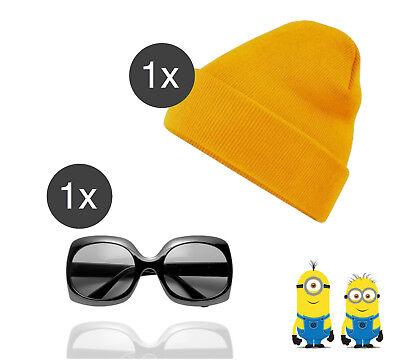 Minion Kostüm Accessoires für Herren und Damen Fasching & Karneval Mütze gelb
