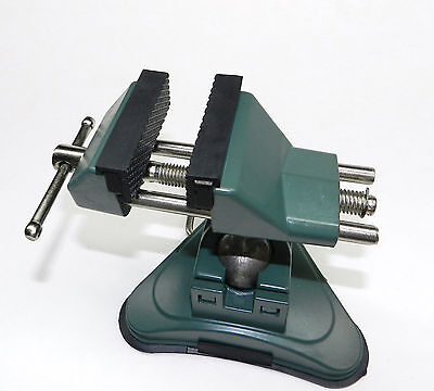 Vises Bench Table Top Vacuum Base Vise Joint Roates 360 2-34 Rubber Lined Jaws