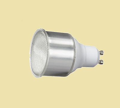 Gu10 Fluorescent Bulbs - 5 x 11W GU10 Compact Fluorescent Lamp Warm White 2700K Long neck GU10 Bulb.