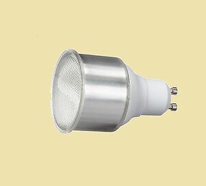 5 x 11W GU10 Compact Fluorescent Lamp Warm White 2700K Long neck GU10 Bulb.