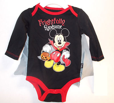 Mickey Mouse Frightfully Handsome Child Costume Bodysuit 0-3M 3-6M 6-9M NWT (Mickey Mouse Kids Costumes)
