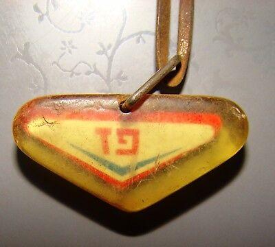 Jewish Vintage Israel Key Chain Oil Gas Fuel Delek Sonol Petroleum Company Paz
