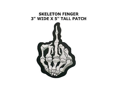 Skull Finger Sew Iron on Patches Embroidered Badge Applique Sewing Cloth Patch