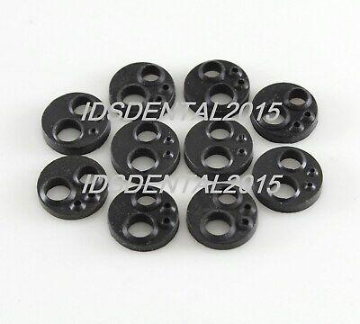 10pcs Autoclavable Dental Handpiece Gasket M4 Holes Black