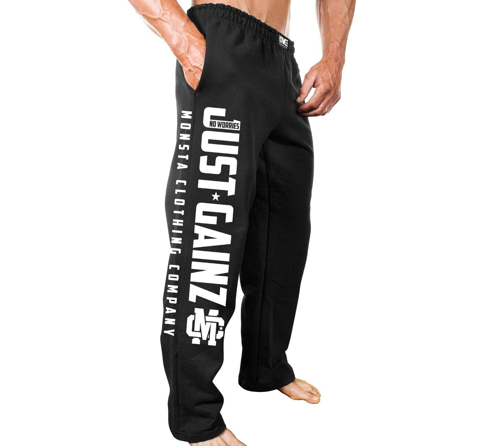 New Men's Monsta Clothing Fitness Gym Sweatpants - Just Gain