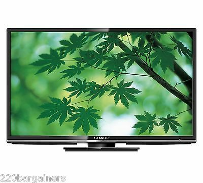 "Sharp 24"" Multi System HD LED TV PAL NTSC 110 220 Volt Worldwide Use LC-24LE440M"