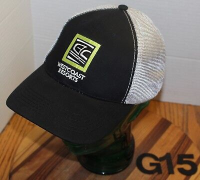 Westcoast West Coast Resorts Hat Black Gray Strapback Adjustable Vgc G15